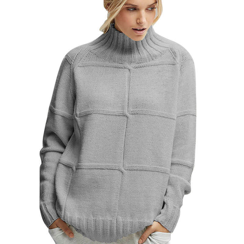 Loose Turtleneck Soild Winter Sweater