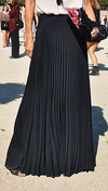 Pure Color Chiffon Pleated Big Long Skirt - Meet Yours Fashion - 4