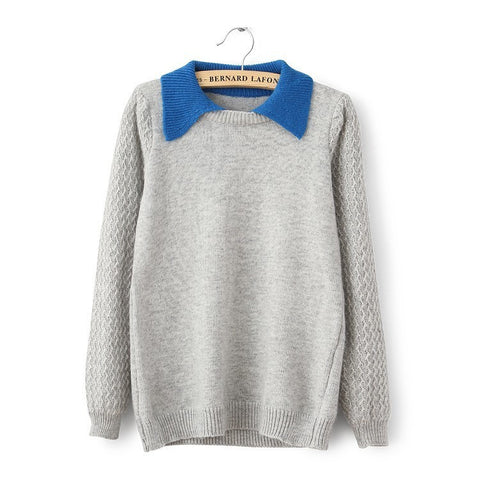 False Two Pieces Pullover Sweater - MeetYoursFashion - 4