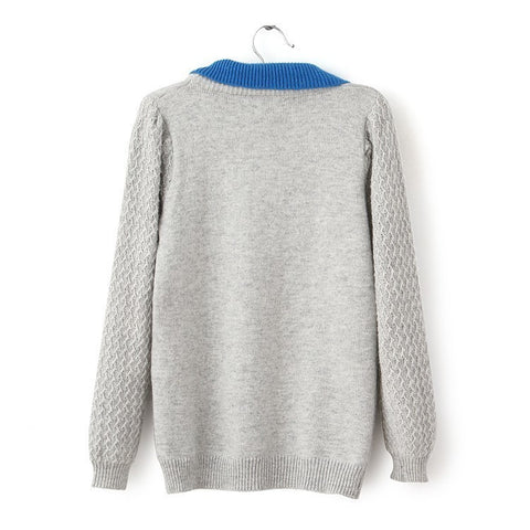 False Two Pieces Pullover Sweater - MeetYoursFashion - 5