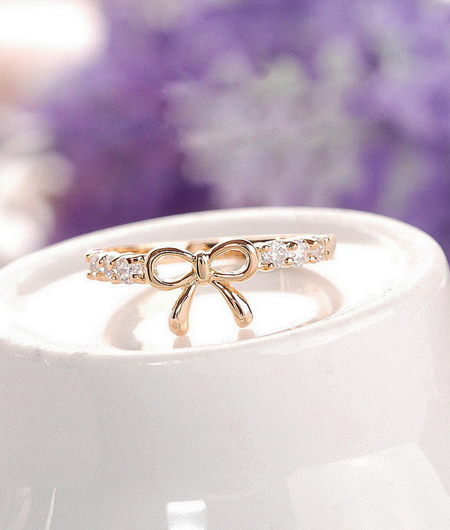Korean Style Set Auger Bowknot Ring - MeetYoursFashion - 6