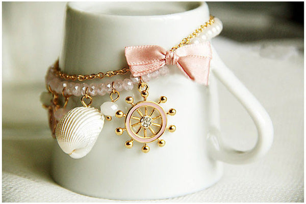 Bowknot Pearl Shell Beach Bracelet - MeetYoursFashion - 3