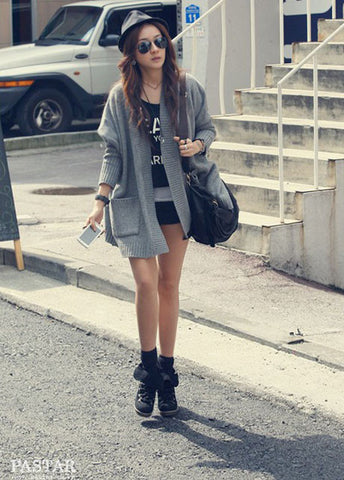 Hip Hop Loose Pattern Batwing Sleeve Cardigans - MeetYoursFashion - 4