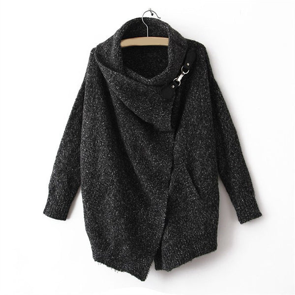 Fashion Splicing Pothook Cardigans Sweater Coat For Women - Meet Yours Fashion - 3