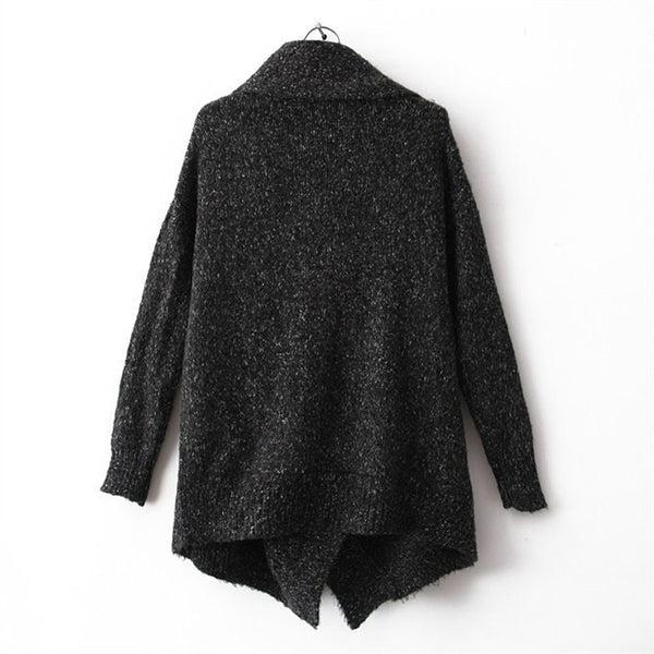 Fashion Splicing Pothook Cardigans Sweater Coat For Women - MeetYoursFashion - 2