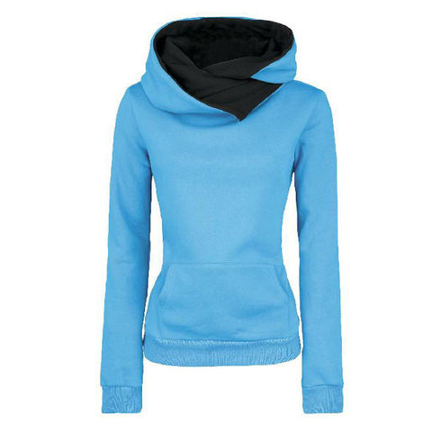 Long Sleeves High Neck Hoodies - Meet Yours Fashion - 2