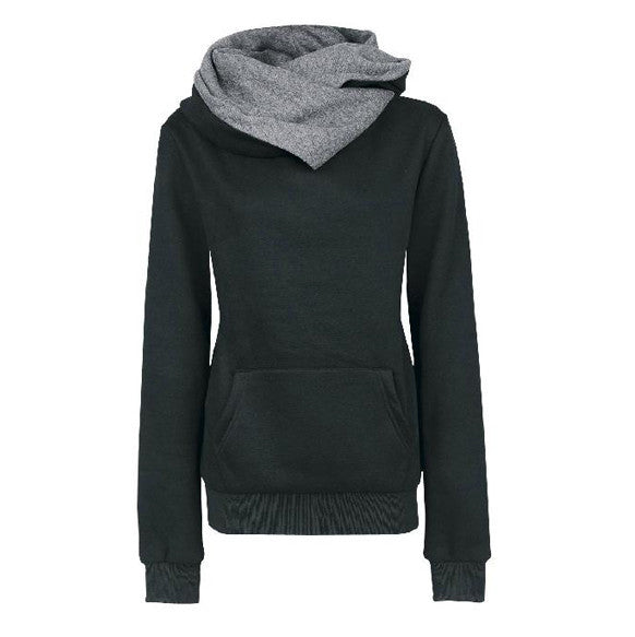 Long Sleeves High Neck Hoodies - MeetYoursFashion - 3