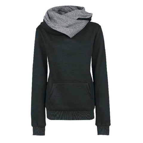 Long Sleeves High Neck Hoodies - Meet Yours Fashion - 3