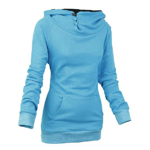 Split Joint Cotton Slim Women Hoodies - MeetYoursFashion - 4