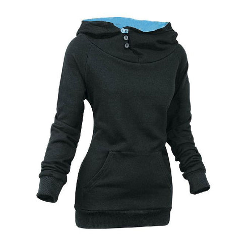 Split Joint Cotton Slim Women Hoodies - MeetYoursFashion - 5
