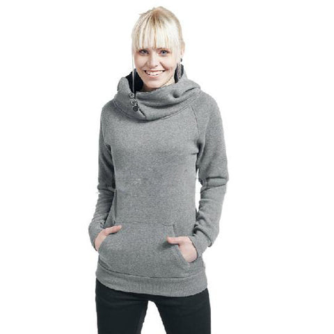Split Joint Cotton Slim Women Hoodies - MeetYoursFashion - 2