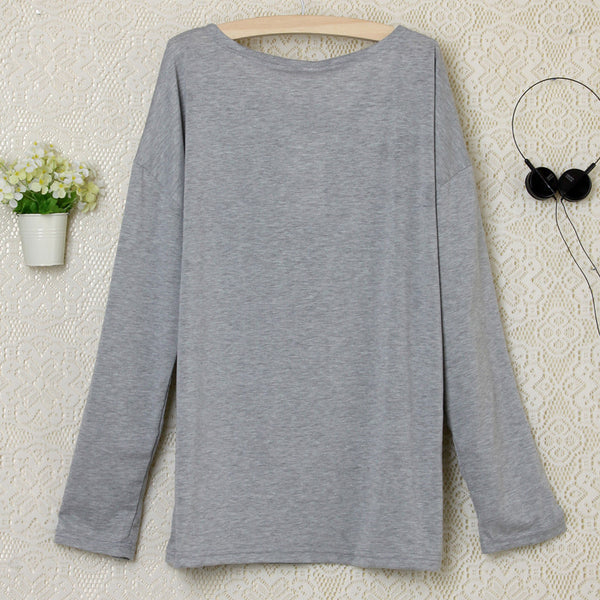 2016 Heart Pattern Long Sleeve T-Shirt - MeetYoursFashion - 5