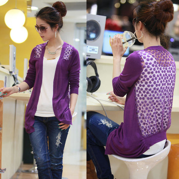 Candy Color Hollow Thin Knitting Blouse - MeetYoursFashion - 5