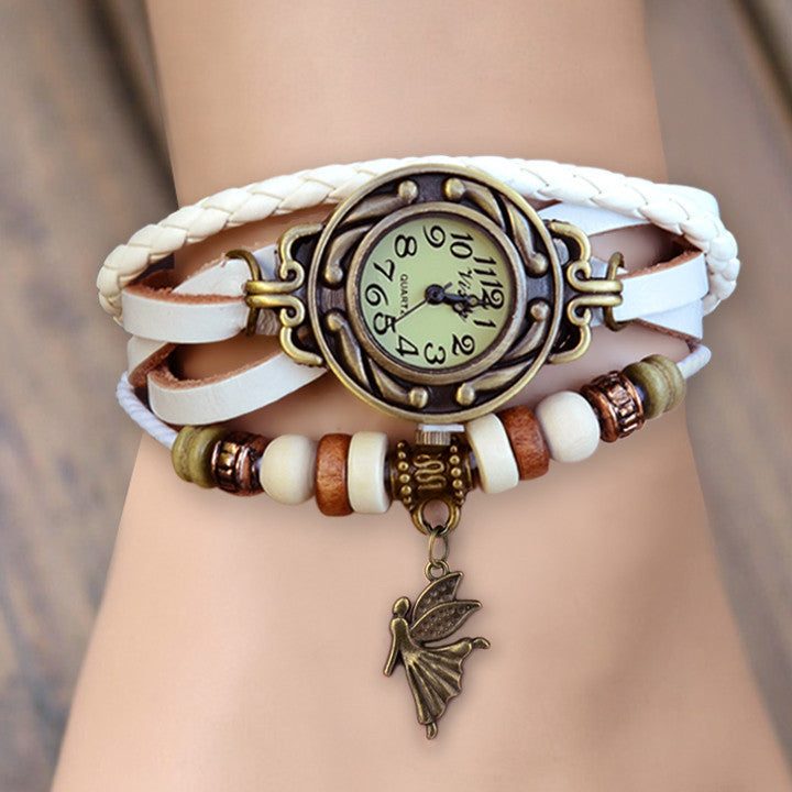 Weave Leather Bracelet Wrist Watch - MeetYoursFashion - 3