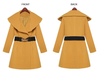 Lapel Collar Slim Long Wool Coat - Meet Yours Fashion - 4