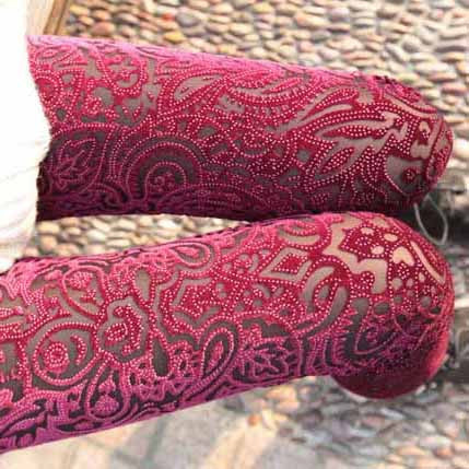 Burnt Out Leggings Pencil Legging Tights - MeetYoursFashion - 1