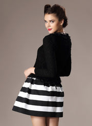 High Waist Stripe Mini Skirt - Meet Yours Fashion - 7