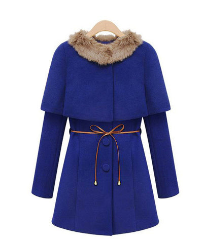 Two Pieces Long Woolen Trench Coat - MeetYoursFashion - 4