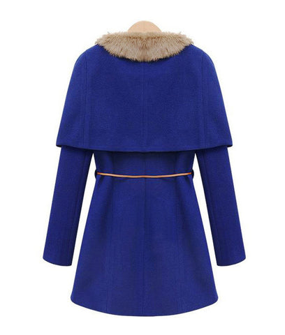 Two Pieces Long Woolen Trench Coat - MeetYoursFashion - 5