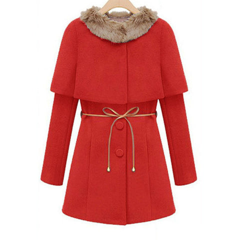 Two Pieces Long Woolen Trench Coat - MeetYoursFashion - 2