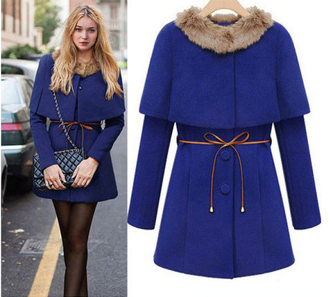 Two Pieces Long Woolen Trench Coat - MeetYoursFashion - 1