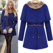 Two Pieces Long Woolen Trench Coat