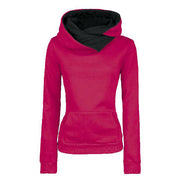 Long Sleeves High Neck Hoodies - Meet Yours Fashion - 1