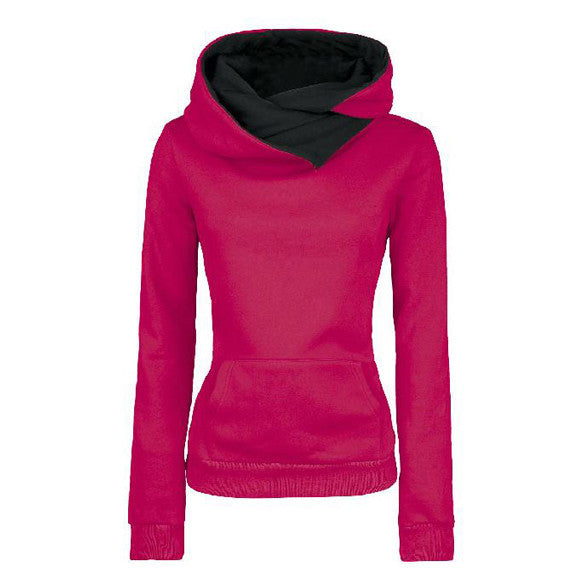 Long Sleeves High Neck Hoodies - MeetYoursFashion - 1