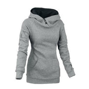 Split Joint Cotton Slim Women Hoodies - MeetYoursFashion - 1