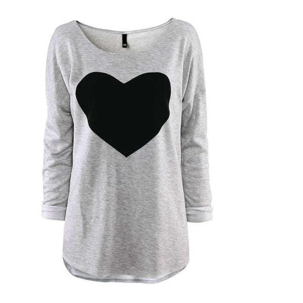 2016 Heart Pattern Long Sleeve T-Shirt - MeetYoursFashion - 4