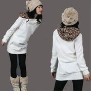 Long Leopard Fashion Hoodies Sweatshirt - MeetYoursFashion - 1