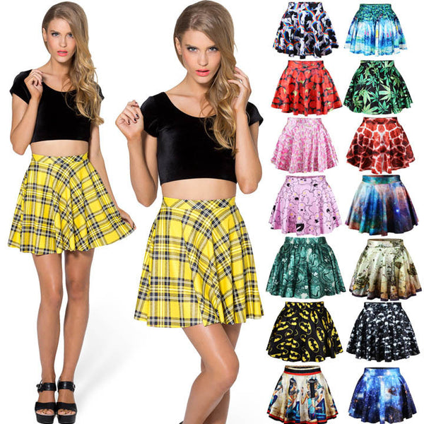 Stretch Waist Pleated Mini Skirt - MeetYoursFashion - 1
