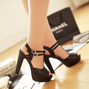 Fashion Platform Peep Toe Outdoor Heels Sandals - MeetYoursFashion - 4