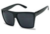 black kim kardashian style oversize blacked out squared street fashion casual sun glasses for me and women