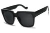 black classic vintage sunglasses with dark tinted smoke blacked out elegant sunglasses for women style SU80675 80675