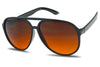 blue blocking orange amber transparent lens anti glare oversized aviator style sunglasses extra large SU7706BB