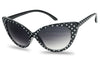 Black and White Polka Dot Cat Eye Sunglasses with Gradient Lens 80298PO SU80298 80298 SU