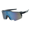 black blue full shield sunglasses mirrored