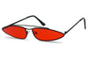bad bunny inspired sunglasses slim oval aviator sunglasses red lens