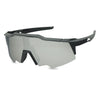 black silver mirrored shielded sunglasses for women