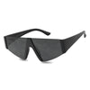 All Black Oversized Sunglasses Classic Fun Cute Stylish Glasses for Men and Women