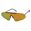 futuristic retro 80s rimless color mirrored slim metal mens 80 themed sunglasses