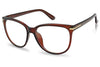 all brown no lens clear transparent no prescription eye glasses for both men and women unisex style reading frame eyewear