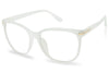 all white with gold non-prescription eyeglasses cleared see through fake transparent uv400 protection eyewear eye glasses