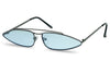 badbunny new hip modern retro double bridge bar aviator glasses triangular shape