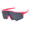 neon pink sport action shield sunglasses