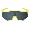 neon yellow black lens large sunglasses