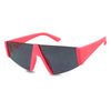 Cute Hot Neon Pink Bold Fat Futuristic Geometric Flat Lens Sun Shades