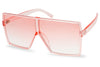 oversize pink transparent acrylic squared flat top frame and lens sunglasses for women 7416CRYCOL 7416
