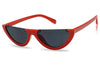 Red Freame Black Lens HalfMoon Cat Eye Sunglasses for Women KS1842 SU1842 Sunnies